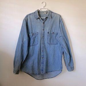 MaryK & Co Men's Denim Button Down Shirt